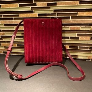 Steven Alan Suede Burgundy Crossbody